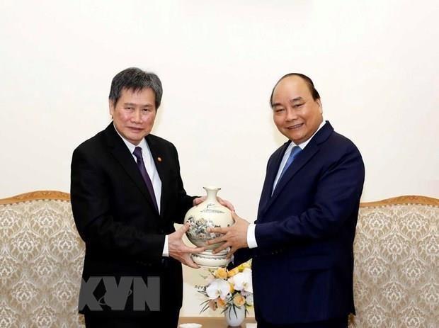Premier vietnamita recibe al secretario general de ASEAN hinh anh 1