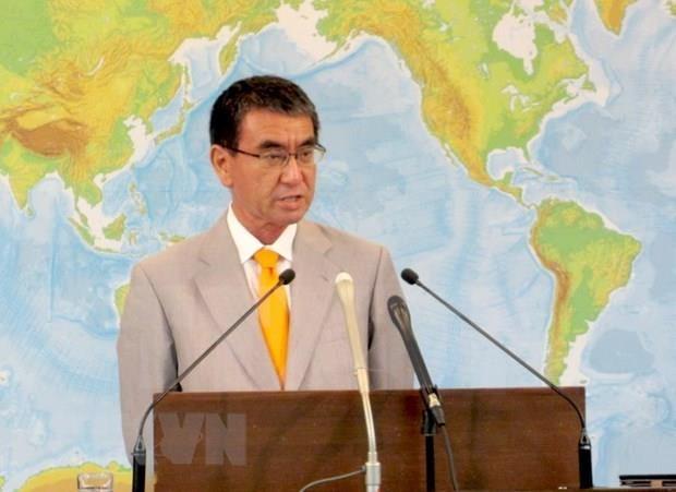 Canciller japones aboga por respetar las leyes en el Mar del Este hinh anh 1