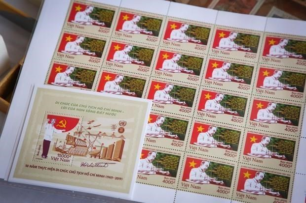 Emite Vietnam sellos para conmemorar aniversario 50 del testamento del Tio Ho hinh anh 1