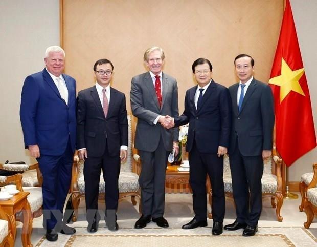 Vicepremier vietnamita recibe al director ejecutivo del grupo SOCO hinh anh 1