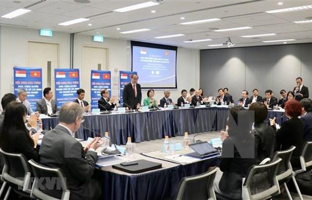 Ciudad Ho Chi Minh presenta a empresas singapurenses sus potencialidades de inversion hinh anh 1