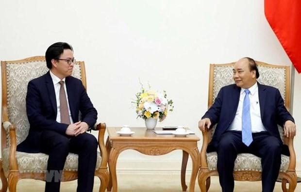Primer ministro de Vietnam recibe a embajador saliente de Camboya hinh anh 1