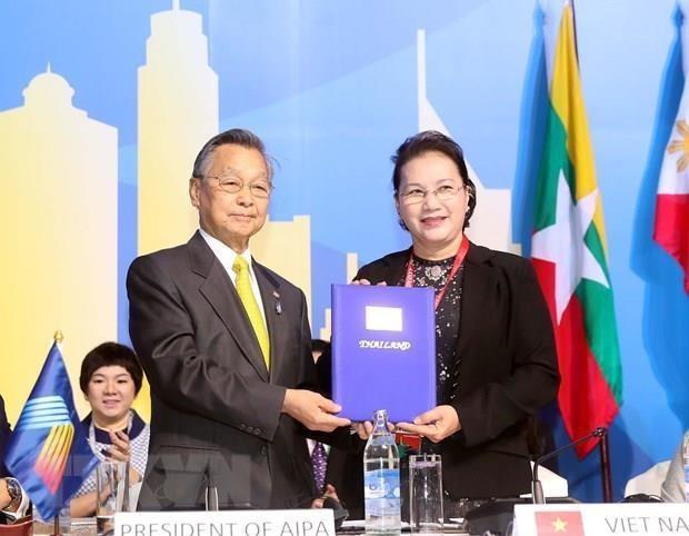 Presidenta de la Asamblea Nacional de Vietnam concluye viaje a Tailandia hinh anh 1