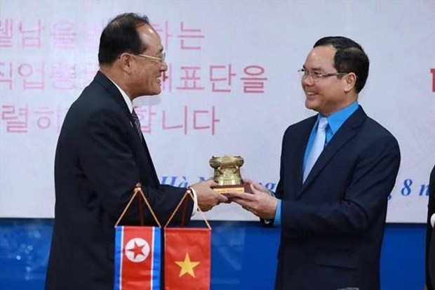 Proyectan Vietnam y Corea del Norte fomentar cooperacion en actividades sindicales hinh anh 1