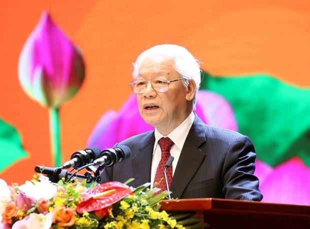 Ceremonia nacional marca 50 anos de la implementacion el testamento del Presidente Ho Chi Minh hinh anh 1