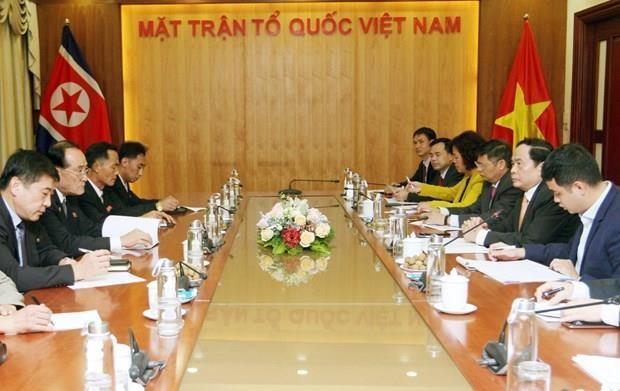 Refuerzan Vietnam y Corea del Norte cooperacion en actividades sindicales hinh anh 1