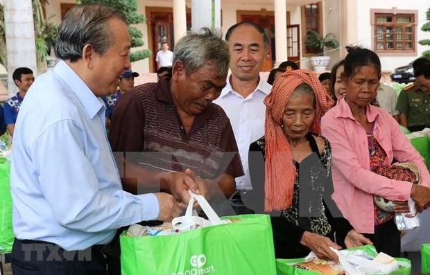 Vicepremier vietnamita visita etnias minoritarias en Binh Phuoc hinh anh 1