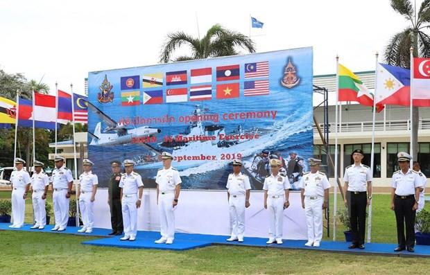 Participa Vietnam en ejercicio maritimo ASEAN- Estados Unidos en Tailandia hinh anh 1