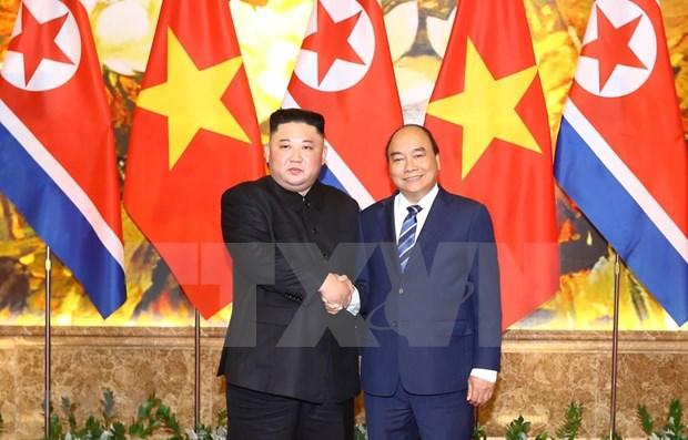 Lider norcoreano Kim Jong-un aspira a consolidar relaciones con Vietnam hinh anh 1