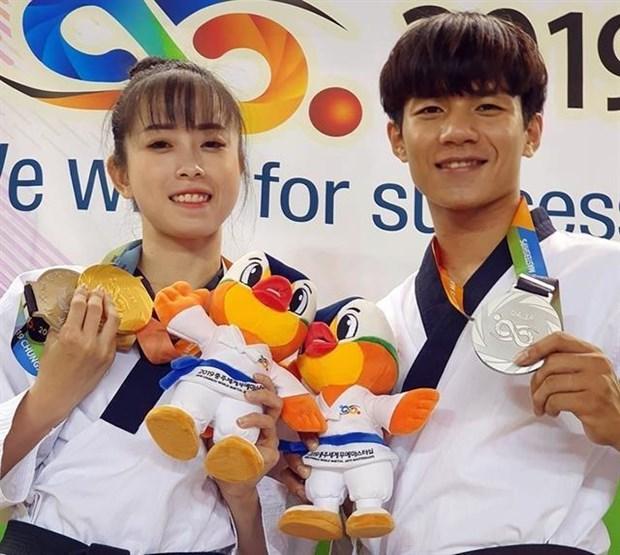 Gana Vietnam medalla de plata en la Maestria Mundial de Artes Marciales Chungju 2019 hinh anh 1