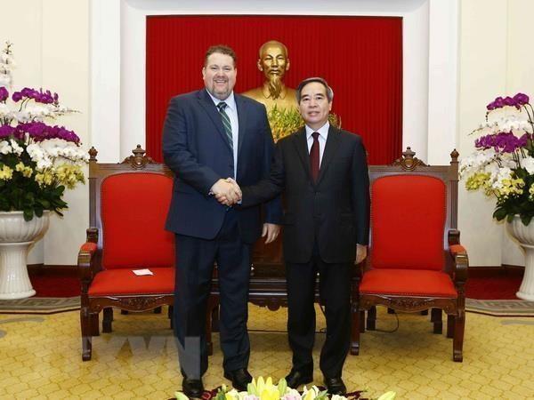 Reafirma dirigente partidista de Vietnam apoyo a corporacion petrolero estadounidense hinh anh 1
