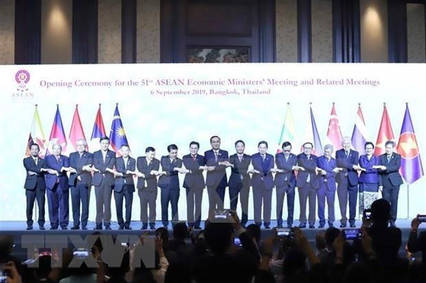 Inauguran Reunion 51 de Ministros de Economia de ASEAN hinh anh 1