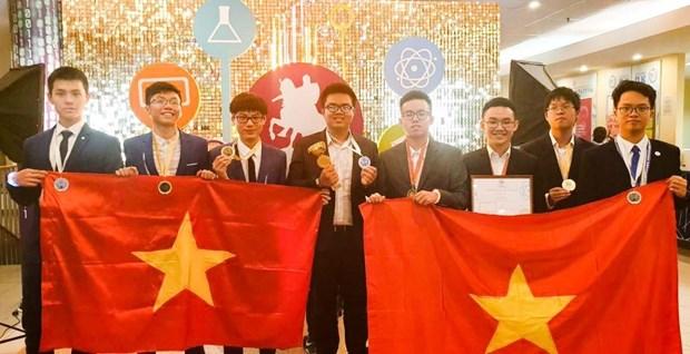 Gana Vietnam tres oros en Olimpiada Internacional de Metropolises en Moscu hinh anh 1