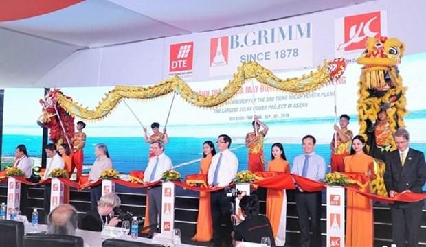 Inauguran en Vietnam mayor proyecto de energia solar del Sudeste Asiatico hinh anh 1