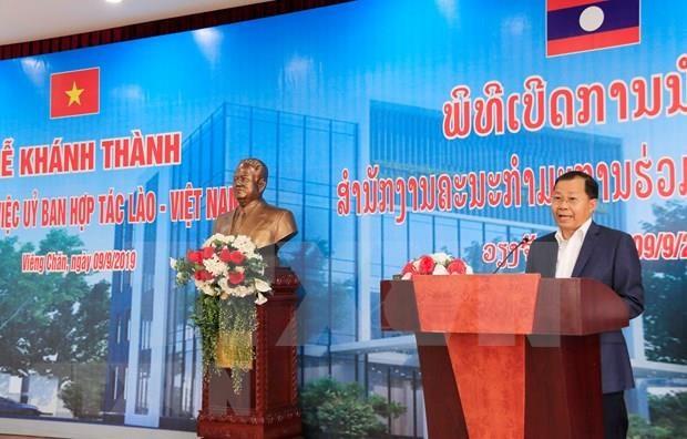 Inauguran sede del Comite para la Cooperacion entre Laos y Vietnam hinh anh 1