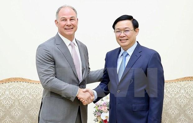 Aplaude vicepremier de Vietnam inversiones de empresa energetica estadounidense hinh anh 1