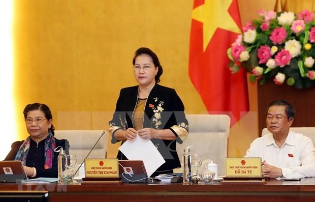 Comienza la reunion 37 del Comite Permanente del Parlamento de Vietnam hinh anh 1