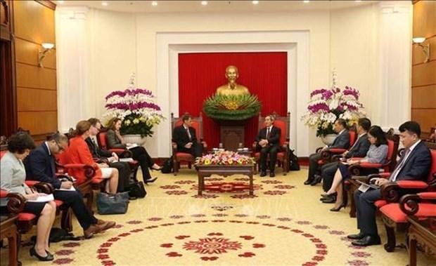 Reitera Vietnam caracter prioritario del fomento de lazos economicos con EE.UU. hinh anh 1