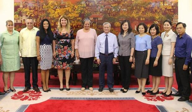 Cuba y provincia vietnamita de Bac Ninh intercambian experiencias en asuntos laborales hinh anh 1