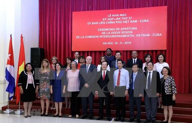 Sesiona en Hanoi Comision Intergubernamental Vietnam-Cuba hinh anh 1