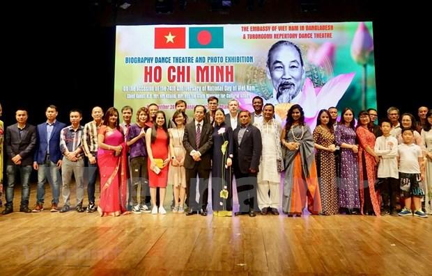 Presentan en Banglades programa sobre la vida y obra del Presidente Ho Chi Minh hinh anh 1