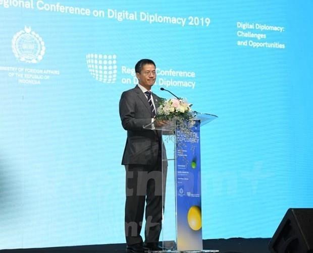 Asiste Vietnam a la Conferencia regional sobre diplomacia digital en Indonesia hinh anh 1