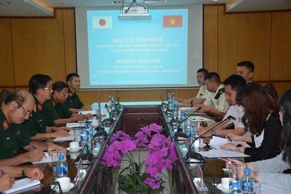 Aceleran Vietnam y Japon preparativos para curso de entrenamiento militar hinh anh 1