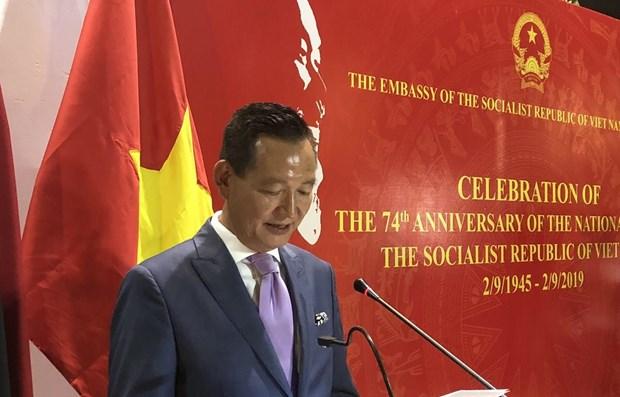 Celebran Dia de la Independencia de Vietnam en extranjero hinh anh 1