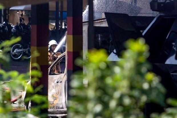 Explosion en almacen de municiones de policia indonesia hinh anh 1
