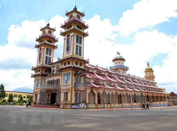 Celebra religion vietnamita Caodaismo su gran ritual en ocasion de Fiesta de Medio Otono hinh anh 1