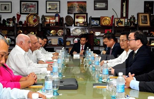 Delegacion del Partido Comunista de Vietnam visita Cuba para impulsar lazos tradicionales hinh anh 1