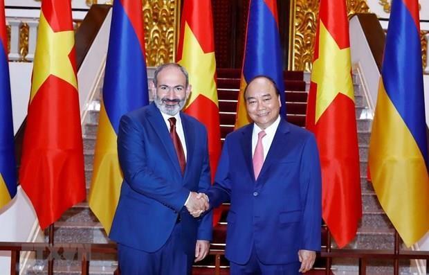 Encuentro de intercambio en Hanoi por el Dia de Independencia de Armenia hinh anh 1