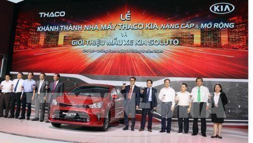 Inauguran en Vietnam fabrica de automoviles KIA hinh anh 1