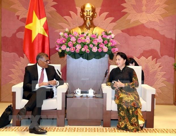 Respalda presidenta del Parlamento de Vietnam cooperacion judicial con Singapur hinh anh 1