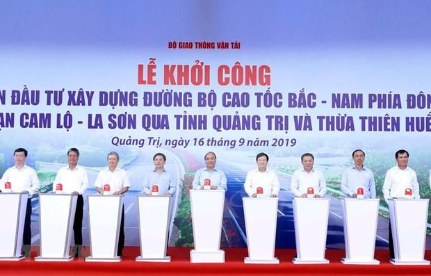 Aceleran construccion de autopista norte-sur de Vietnam hinh anh 1
