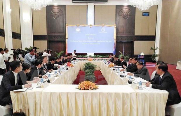 Cooperan Vietnam y Camboya en sector bancario hinh anh 1