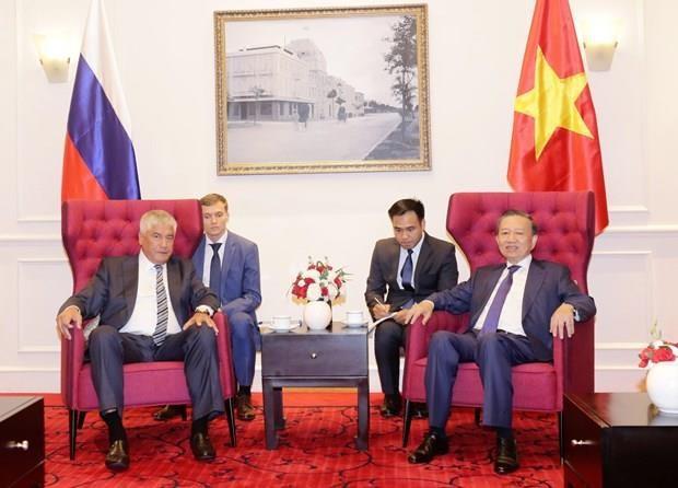 Vietnam y Rusia promueven colaboracion en seguridad hinh anh 1