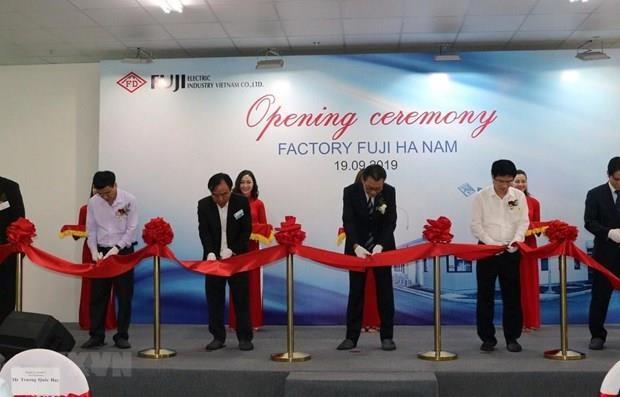Inauguran fabrica de Fuji Electric Industry en provincia nortena de Vietnam hinh anh 1