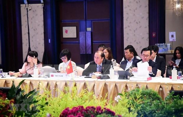 Participa Vietnam en reuniones preparatorias para la XXXV Cumbre de ASEAN hinh anh 1