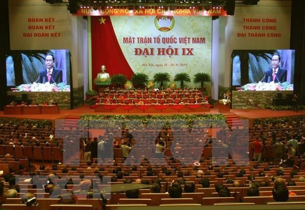 Inauguran Congreso Nacional del Frente de la Patria de Vietnam del VIII mandato hinh anh 1
