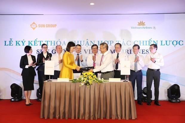 Se asocian Vietnam Airlines y Sun Group para ofrecer paquetes vacacionales hinh anh 1