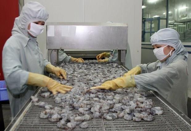 Superan exportaciones de camarones vietnamitas 1,93 mil millones de dolares hinh anh 1