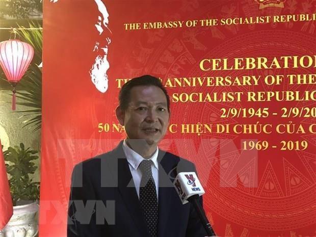 Honran vietnamitas en Egipto al Presidente Ho Chi Minh por sus grandes aportes al pais hinh anh 1