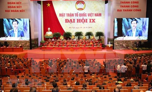 Clausuran noveno Congreso Nacional del Frente de la Patria de Vietnam hinh anh 1
