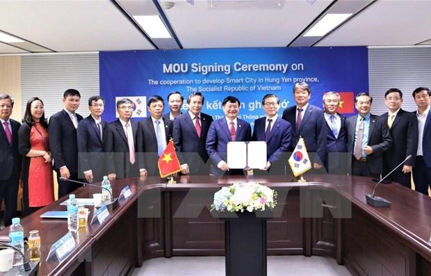 Cooperan Corea del Sur y provincia vietnamita en desarrollo de ciudad inteligente hinh anh 1