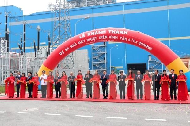 Inauguran nueva planta termoelectrica en la provincia vietnamita de Binh Thuan hinh anh 1