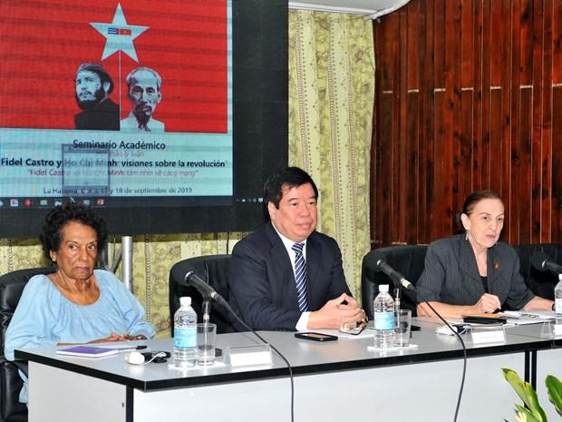 Seminario enfatiza vigencia del pensamiento revolucionario de Ho Chi Minh y de Fidel hinh anh 2