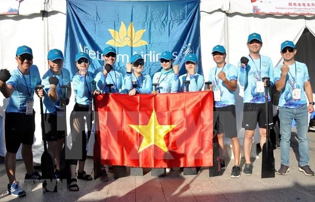 Participa Vietnam Airlines en Carrera internacional de Botes de Dragon Shanghai hinh anh 1