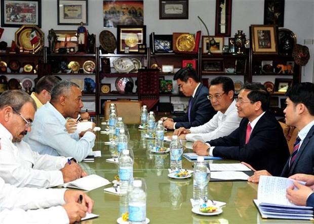 Proyectan Vietnam y Cuba ampliar el intercambio comercial hinh anh 1
