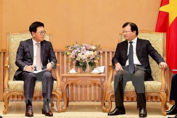 Aprecia vicepremier de Vietnam actividades del grupo sudcoreano Lotte hinh anh 1